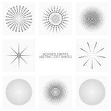 Den abstrakta pricken formar, vektoruppsättningen av designbeståndsdelar Royaltyfri Fotografi