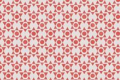Den abstrakta röda geometriska modellen på papper texturerade bakgrund Fotografering för Bildbyråer