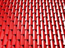Den abstrakta röda kuben blockerar väggbakgrund Arkivbilder