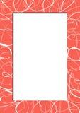 Den abstrakta röda ramen med klottrar Royaltyfri Foto