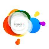 Den abstrakta regnbågen cirklar modern bakgrund Arkivfoto