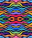 Den abstrakta regnbågen färgade tentakel i mörk bakgrund royaltyfri illustrationer