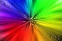 Den abstrakta regnbågen färgar tryckvåg för bakgrund stock illustrationer