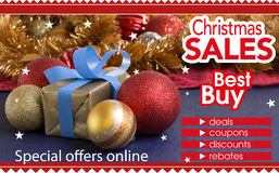 Den abstrakta reklambladet för att shoppa på jul shoppar faktiskt Arkivbilder