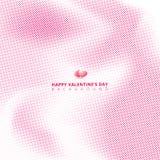 Den abstrakta rosa halvton på vit bakgrund med hjärtor för valen royaltyfri illustrationer