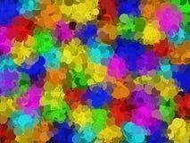 Den abstrakta runda mosaikregnbågen färgade rengöringsdukbakgrund stock illustrationer