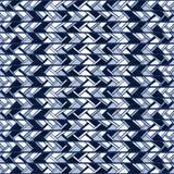 Den abstrakta sömlösa blåa modellen av vertikala band klottrar Arkivbild