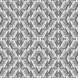 Den abstrakta sömlösa modellen med band och exponeringsglas tappar i de geometriska formerna Mosaisk bakgrund Modern prydnad Arkivbild