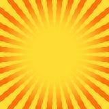 Den abstrakta solen rays krabb gul bakgrund Royaltyfria Bilder