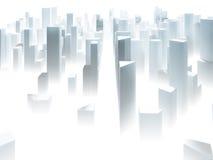 Den abstrakta staden skissar Arkivbild