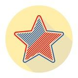Den abstrakta stjärnan för vektordesignbeståndsdel med amerikanska flaggan Arkivbilder