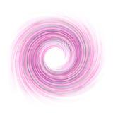 Den abstrakta vågen med spirala rosa färger färgar på en vit bakgrund som är användbar som en textur royaltyfri foto