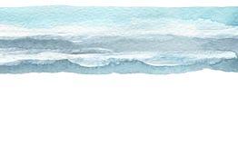 Den abstrakta vattenfärgborsteslaglängden målade bakgrund paper textur isolerat arkivbild