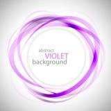 Den abstrakta violeten ringer vektorbakgrund Arkivbilder