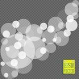 Den abstrakta vita explosionen för ljus effekt för bokeh gristrar modern design Defocused suddighet för glödstjärnabristning Mous Arkivbild