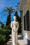 Den Achilleion slotten, Korfu, Grekland fotografering för bildbyråer