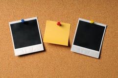 den adhesive anmärkningen fotograferar tappning arkivfoton