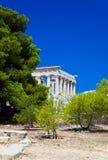 den aeginagreece ön fördärvar tempelet Fotografering för Bildbyråer