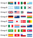 den africa koppen grupperar den södra världen Arkivfoton