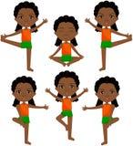 Den afrikanska flickan med dreadlocksdoinmorgon utarbetar Royaltyfria Bilder