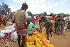 Den afrikanska manen på det stam- marknadsför Royaltyfri Bild