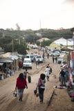 Den afrikanska marknaden i Punta gör Ouro, Mocambique Arkivfoton