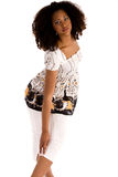 den afrikanska modeflickan poserar royaltyfri foto