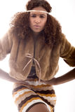 den afrikanska modehighen poserar Royaltyfri Foto
