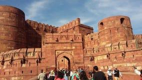Den Agra forten är en lokal för UNESCO-världsarv Fotografering för Bildbyråer