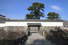 Den Akagane porten och den Sumiyoshi bron av Odawara rockerar Royaltyfri Foto