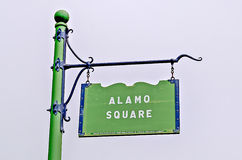 Den Alamo fyrkanten undertecknar in San Francisco Royaltyfri Foto