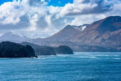 Den alaskabo kustlinjen Royaltyfri Foto