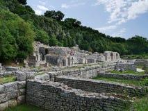 Den albanska arkeologiska staden av Butrint Royaltyfri Foto