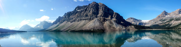 den alberta banff bowKanada laken lokaliserade nationalparken Royaltyfri Foto