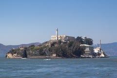 Den Alcatraz ön och det tidigare fängelset arkivbilder