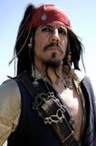 den alert kaptenen piratkopierar Royaltyfri Fotografi