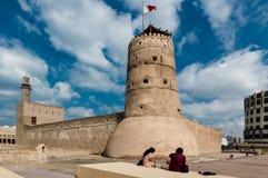 Den AlFahidi forten i Dubai Royaltyfria Foton