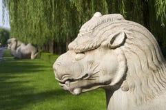 Den allmänna sakrala vägen av Ming Tombs arkivbild