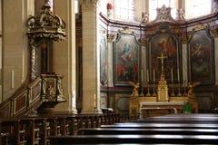 Den allmänna sikten av kyrkan Arkivfoto