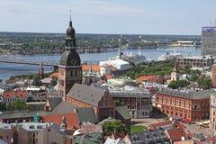 Den allmänna sikten av Riga Royaltyfri Foto