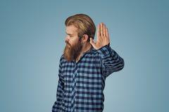 Den allvarliga affärsmannen som visar inte, stoppar där gest royaltyfria foton