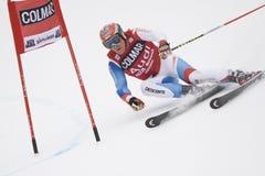 den alpina Alta Badia koppjätten skidar slalomvärlden Arkivfoton
