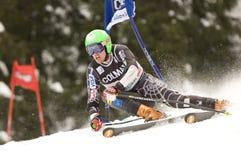 den alpina Alta Badia koppjätten skidar slalomvärlden Arkivbilder