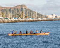 Den alunMoana stranden parkerar, Oahu, Hawaii, USA Arkivbild