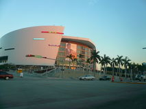 Den American Airlines arenan, hem av den Miami värmen Royaltyfria Foton