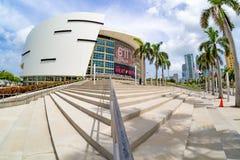 Den American Airlines arenan i Miami Fotografering för Bildbyråer