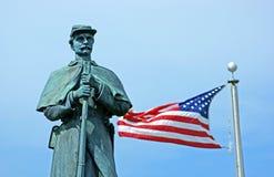 den amerikanska borgerliga flaggastatyn kriger Royaltyfria Bilder
