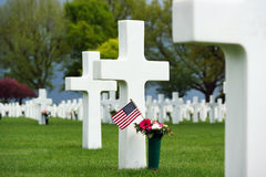 den amerikanska kyrkogården kriger Royaltyfri Fotografi