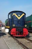 Den amerikanska lokomotivet av RSD-1 Da-20 av 1942 som konstrueras för USSR i museet av järnväg transport av Oktyabrskaya Railw Royaltyfria Bilder