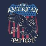 Den amerikanska patrioten! stock illustrationer